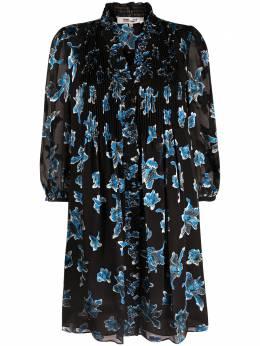 Dvf Diane Von Furstenberg платье мини Layla с принтом Orchid Rain DVFDL4O026ORCRN