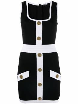 Balmain button-embellished fitted dress VF16062K218