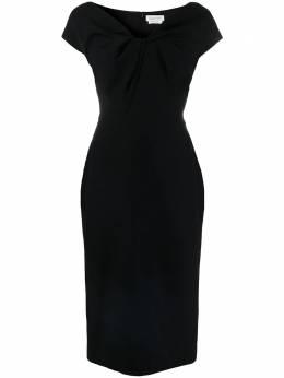 Alexander McQueen платье миди с драпировкой 646338QEAAA