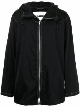Jil Sander легкая куртка с контрастной строчкой JSMS420131