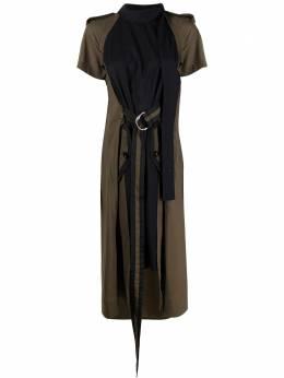 Sacai платье миди с поясом 2105389