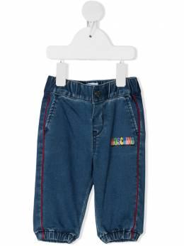 Moschino Kids джинсы с эластичным поясом MUP03PLDE03