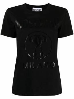 Moschino футболка Double Question Mark с круглым вырезом A07150540