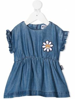 Moschino Kids платье с вышивкой MDV08QL0E05