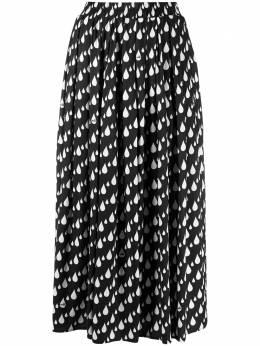 Love Moschino юбка миди с принтом WGE6500T089A