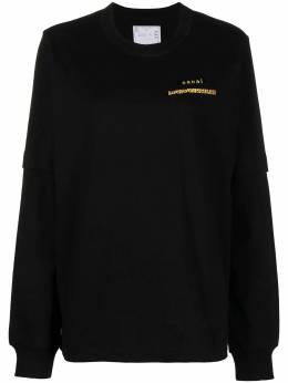 Sacai футболка с длинными рукавами и логотипом 210175S
