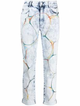 Stella McCartney прямые джинсы с узором 372773SOH24