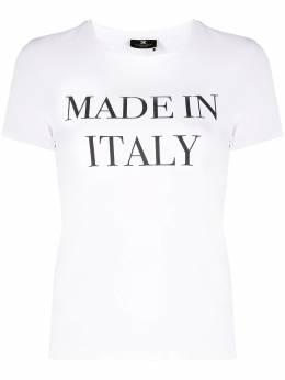 Elisabetta Franchi футболка с принтом Made in Italia MA20311E2