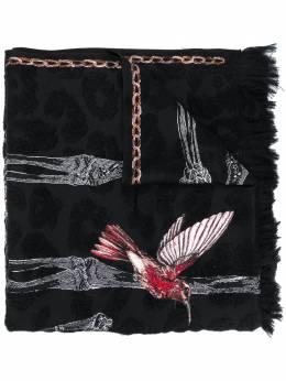 Alexander McQueen шарф с принтом и бахромой 6282963C62Q