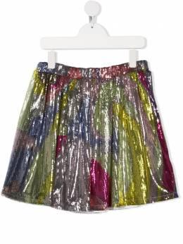 Emilio Pucci Junior расклешенная юбка с пайетками 9O7060OC430