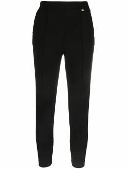 Elisabetta Franchi укороченные брюки кроя слим PA38711E2