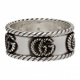 Gucci Silver Double G Ring YBC627729001