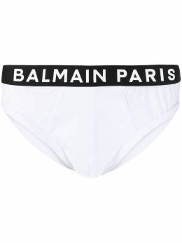 Balmain трусы-брифы с контрастным логотипом BRL615180