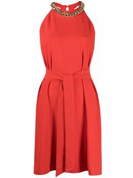 Pinko платье с поясом и цепочкой 1G161T8270R73