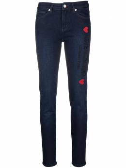 Love Moschino джинсы скинни средней посадки с вышитым логотипом WQ38751S3500