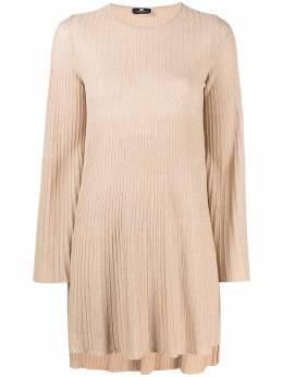 Elisabetta Franchi платье в рубчик с эффектом металлик AM84M11E2