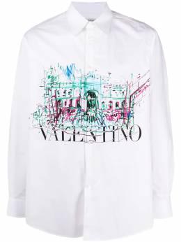 Valentino рубашка с принтом и логотипом VV3ABA95717