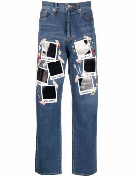 Doublet прямые джинсы с принтом 21SS06PT140