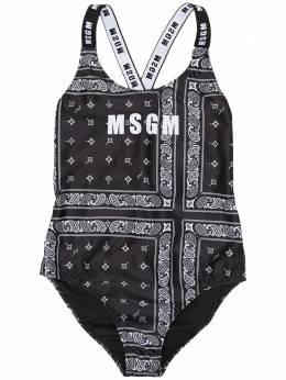 MSGM Kids купальник с принтом MS027253