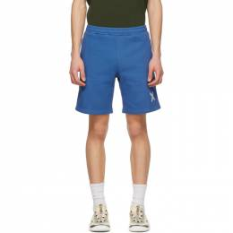 Kenzo Blue Fleece Sport Little X Shorts FA65PA7204MS