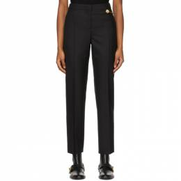 Givenchy Black Wool Cigarette 4G Chain Trousers BW50P812JF