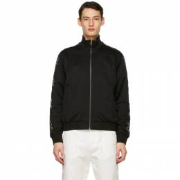 Givenchy Black Refracted Zip-Up Track Jacket BMJ0A030AE001