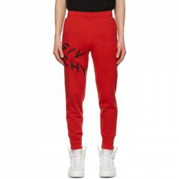 Givenchy Red Embroidered Refracted Lounge Pants BM50MV30AF606