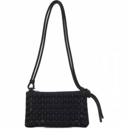 Pleats Please Issey Miyake Black Small Puchi Puchi Shoulder Bag PP17AG535