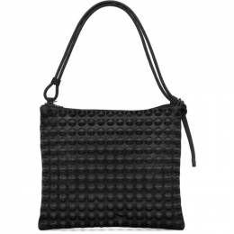 Pleats Please Issey Miyake Black Large Puchi Puchi Shoulder Bag PP17AG536