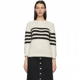A.P.C. Off-White and Black Luzia Sailor Sweater WVAZA-F23019