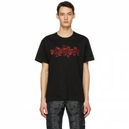 Givenchy Black and Red Schematics Logo T-Shirt BM710W3002