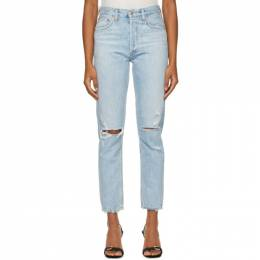 Agolde Blue Jamie High-Rise Classic Jeans A045D-983