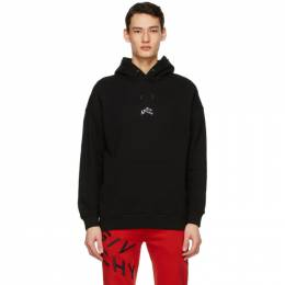 Givenchy Black Embroidered Refracted Hoodie BMJ09M305B