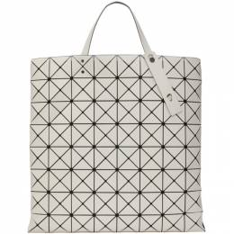 Bao Bao Issey Miyake Off-White Large Matte Lucent Tote Bag BB16AG682