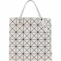 Bao Bao Issey Miyake Off-White Matte Lucent Tote Bag BB16AG683