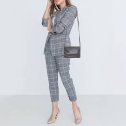 Celine Dark Grey Leather Trio Shoulder Bag 381215