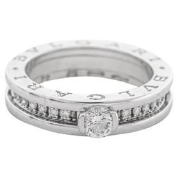 Bvlgari B.Zero1 Diamond 18K White Gold Engagement Ring Size 54 377339