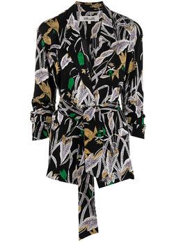 Dvf Diane Von Furstenberg рубашка с запахом и цветочным принтом DVFJS4O004