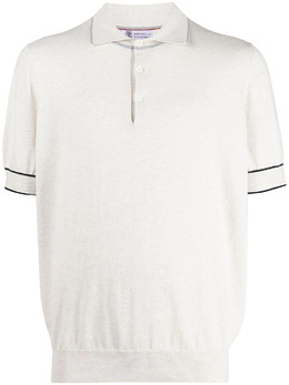 Brunello Cucinelli рубашка поло с контрастной окантовкой M29802005CY486