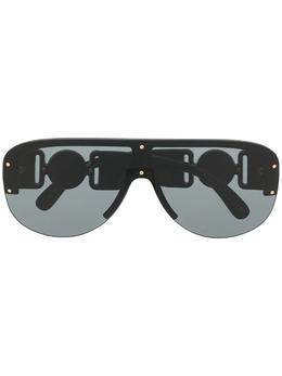 Versace Eyewear солнцезащитные очки-авиаторы с затемненными линзами 0VE4391GB187