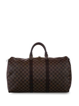 Louis Vuitton дорожная сумка Damier Ebène Keepall 50 2007-го года 0ALVTR108