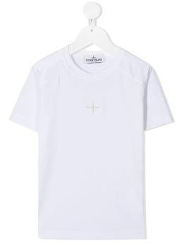 Stone Island Junior футболка с вышитым логотипом 741620551