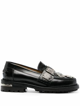 Toga Pulla embellished leather loafers FTGPW108609021
