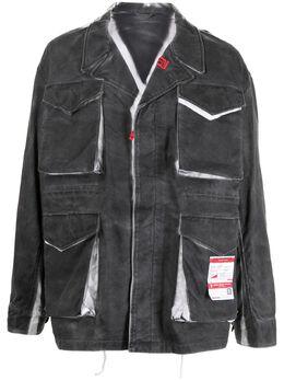 Maison Mihara Yasuhiro джинсовая куртка с принтом тай-дай A06BL071