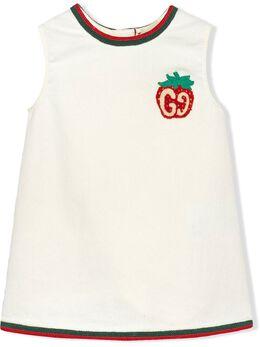 Gucci Kids платье с принтом Gucci Strawberry 652427XDBKQ
