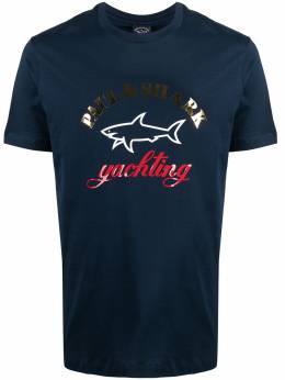 Paul & Shark футболка с вышитым логотипом 21411042