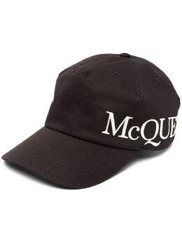Alexander McQueen бейсболка с вышитым логотипом 6328964105Q