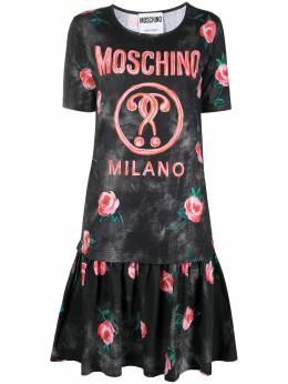 Moschino платье-футболка с принтом Double Question Mark A0422540