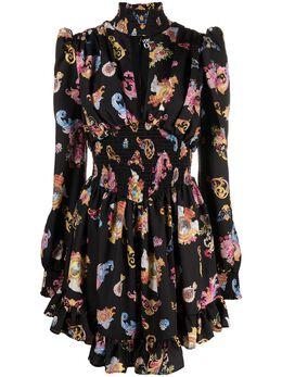 Versace Jeans Couture Versailles-print high-neck dress ED2HWA410ES0996