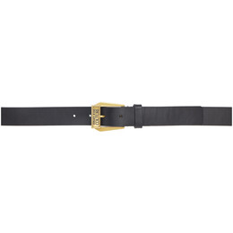 Versace Jeans Couture Black and Gold Leather Belt ED8YWAF03 E72006